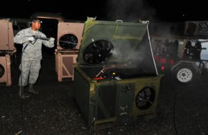 HVAC Airmen winning on deployed frontier: one a/c unit at a time